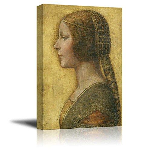 Portrait Wall Sculpture - wall26 Portrait of a Young Fianc¨¦e by Leonardo da Vinci - Canvas Print Wall Art Famous Oil Painting Reproduction - 12