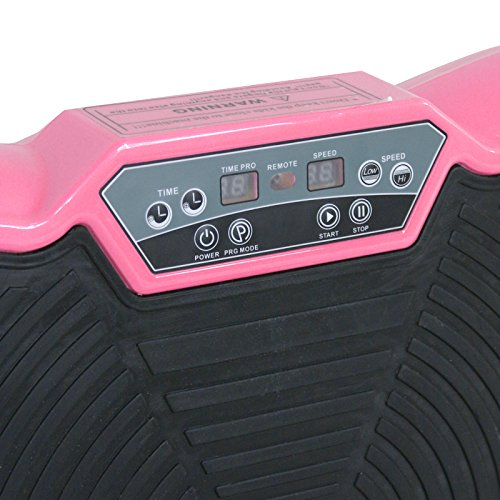 Fitness Vibration Platform Full Body Workout Machine Fit Vibration Plate W/Remote Control and Resistance Bands, Bluetooth Exercise Equipment (Pink) by Nova Microdermabrasion (Image #5)