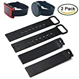 Moto 360 & Pebble Time Wristband By Allrun, 2PCS Silicone Replacement Wristbands with 2PCS Connect Pins For Moto 360 Smartwatch / Pebble Time Smartwatch (2pcs Black)