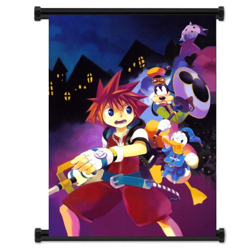 Kingdom Hearts Game Fabric Wall Scroll Poster  Inches