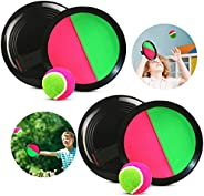 Paddle Toss and Catch Ball Set, Toss and Catch Ball Game Outdoor Sport Game for Kids Backyard Games Beach Yard