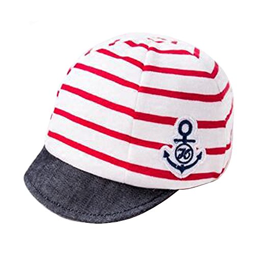 (Jewby Newborn Handmade Hat, Cotton Soft Cap For Babies 3-12 Months (Red))
