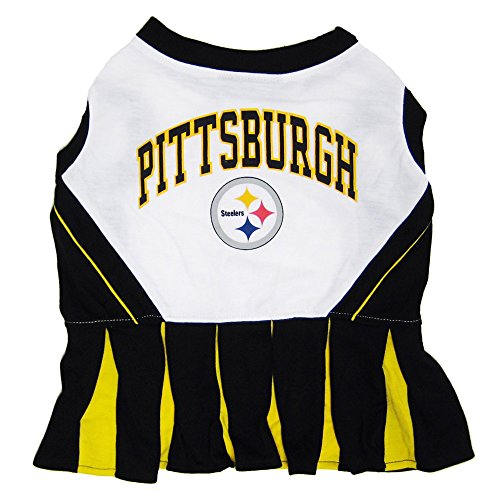Pittsburgh Steelers NFL Cheerleader Dress For Dogs - Size Medium -