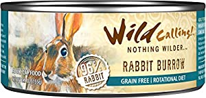 Wild Calling Wet Food, Cat: Rabbit Burrow, 5.5oz can (pack of 24)