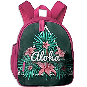 HFIUH5 Aloha Printing Backpack School Book Bag Boys Girls Daypack Travel Bag For Kids