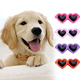 Jeeke 10 Pcs Pet Dog Hair Clips Cute Doggie Sunglasses love Hair Clips Dog Accessories Lovely and Beautiful (Color A)