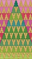 Entertaining with Caspari Guest Towels, Zig Zag Trees, Pack of 15
