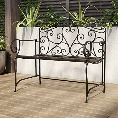 Lavish Home 80-OUTD-3 Durable and Stylish Accent Furniture Folding Garden Bench Outdoor Seating