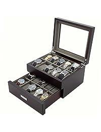 Tech Swiss TSBOX20ESS Madison Dual Watch Box for 20 Timepieces