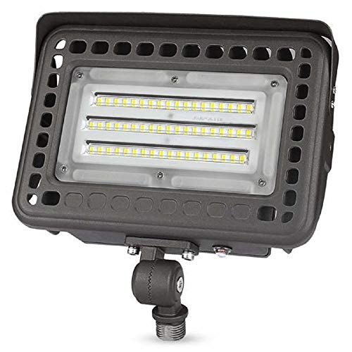 LED Flood Light Fixture - 10,200 Lumens 80 Watt - 4000 Kelvin - 120-277V - 5 Year Warranty - Equal to a 2 250W MH and Uses 68% Less Energy ()