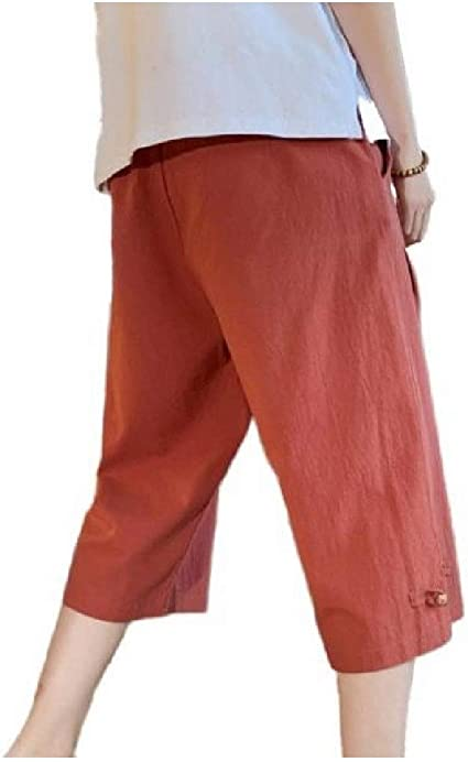 VITryst Mens 3/4 Pants Summer Thin Oversized Simple Palazzo Trousers