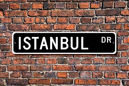 7,6/x 30,5/cm Gigieu metal Sign post Istanbul Sign Gift Istanbul Visitor souvenir Turchia citt/à Istanbul Native Plaque Wall Home Decoration Street Sign