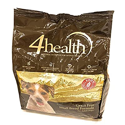 4health Tractor Supply Company, Small Breed Formula with Beef, Grain Free Adult Dog Food, Dry, 4 lb. Bag