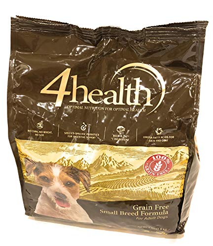 (4health Tractor Supply Company, Small Breed Formula with Beef, Grain Free Adult Dog Food, Dry, 4 lb. Bag)