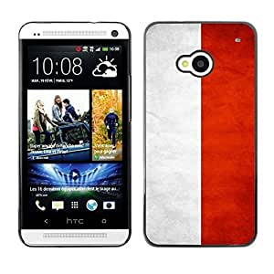 Shell-Star ( National Flag Series-Indonesia ) Snap On Hard Protective Case For HTC One (M7)