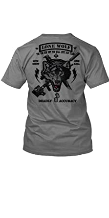 Black Ops Lone Wolf Sniper Special Ops Military T Shirt 2 SIDED PRINT III  (Small 3fe3b76835f