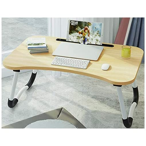 Large Foldable Bed Tray Lap Desk,Portable Lap Desk with Tablet & Phone Slots Perfect for Watching Movie on Bed Or As Personal Dinning Table