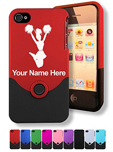 Case for iPhone 4/4s - Cheerleader - Personalized Engraving Included
