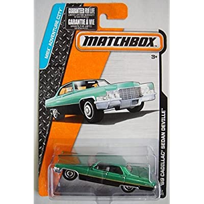 MATCHBOX MBX ADVENTURE CITY BLACK/GREEN '69 CADILLAC SEDAN DEVILLE 12/120 by Matchbox: Toys & Games