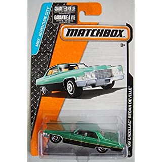 MATCHBOX MBX ADVENTURE CITY BLACK/GREEN '69 CADILLAC SEDAN DEVILLE 12/120 by Matchbox