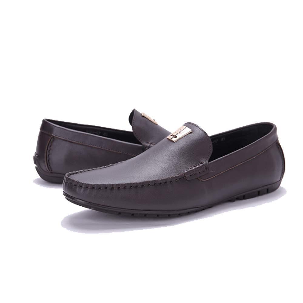 XYCSZQ XYCSZQ XYCSZQ Hombre, Zapatos De Cuero, Casual, Zapatos Perezosos, Broch, Cómodo, Transpirable, Tallado, Caucho 9e9f3e