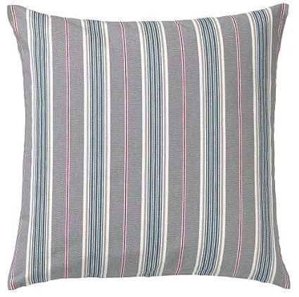 Amazon.com: Ikea Daggvide Striped Cushion Or Throw Pillow Cover ...