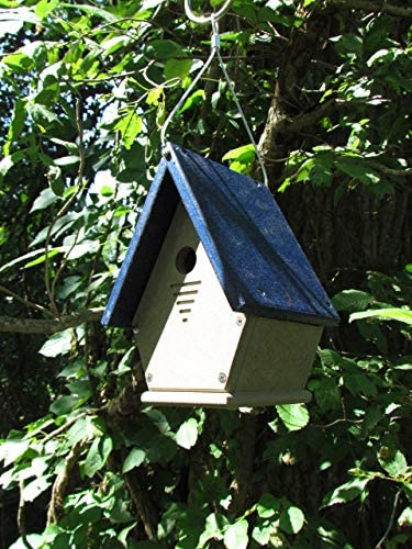 Eco-Friendly Materials JCs Wildlife White//Blue Wren Chateau Birdhouses