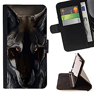 - Wolf Wolves - - Style PU Leather Case Wallet Flip Stand Flap Closure Cover FOR Sony Xperia Z1 L39 - Devil Case -