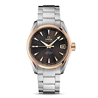 Amazon Com Omega Seamaster Aqua Terra Teak Grey Dial Steel And 18k