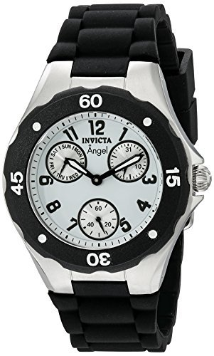 Invicta Womens 0733 Angel Collection Black Polyurethane Watch