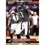 4ec32bf97 Nigel Bradham Signed Philadelphia Eagles Logo Football JSA ITP at ...