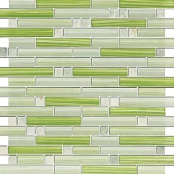 xen ming green stone and glass mosaic tiles for kitchen bathroom backsplash shower walls