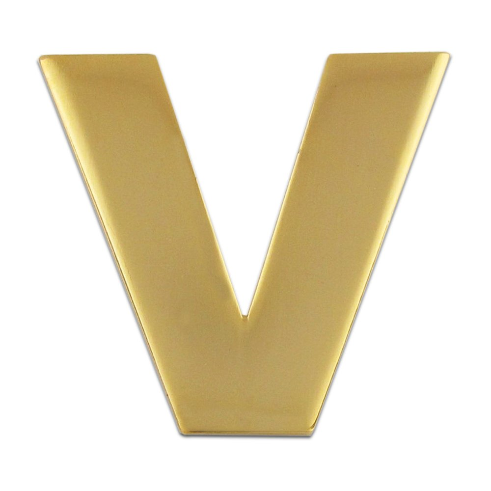 1940s Costume Jewelry: Necklaces, Earrings, Brooch, Bracelets PinMart Gold Plated Alphabet Letter V Lapel Pin $6.43 AT vintagedancer.com