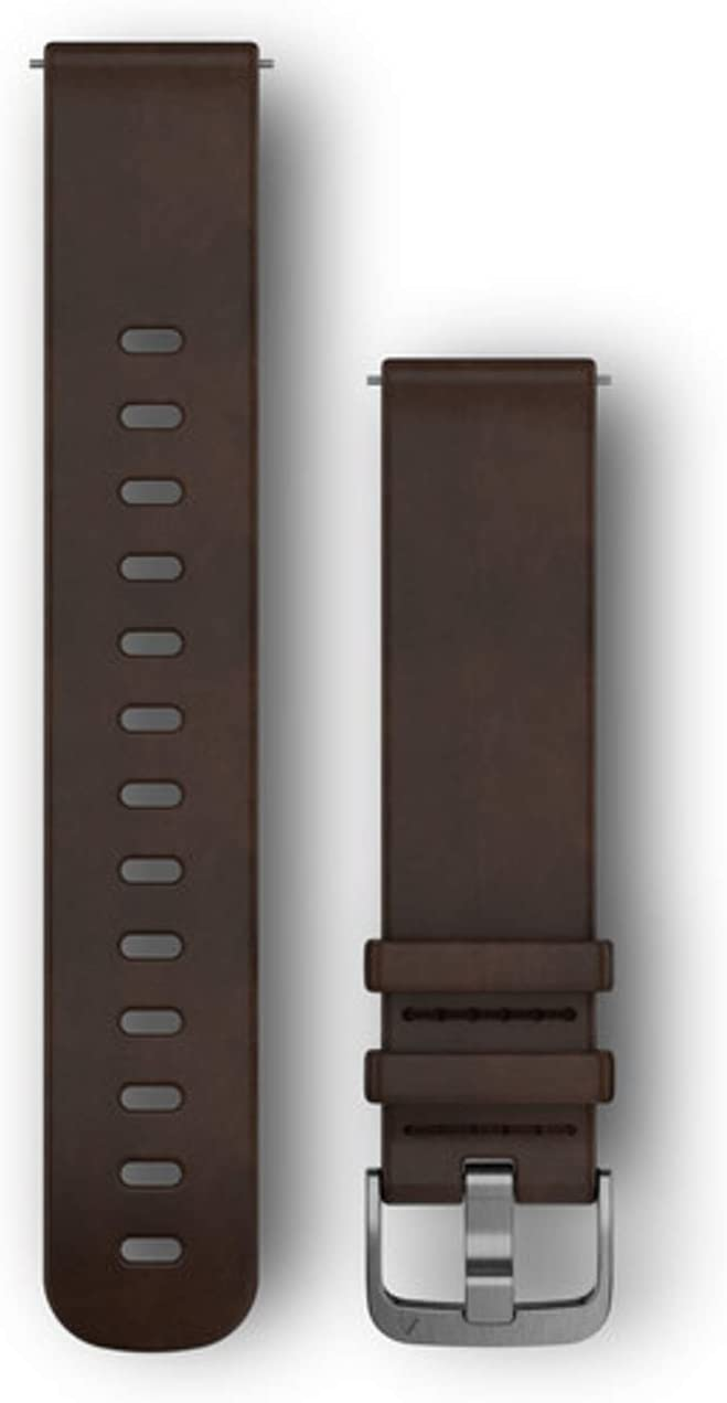Garmin Quick Release Band, Dark Brown Leather Band, 010-12691-01