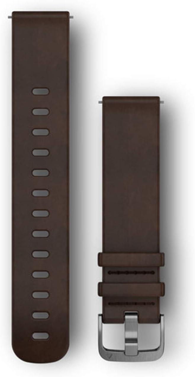 Garmin Quick Release Band, Dark Brown Leather Band, 010-12691-01