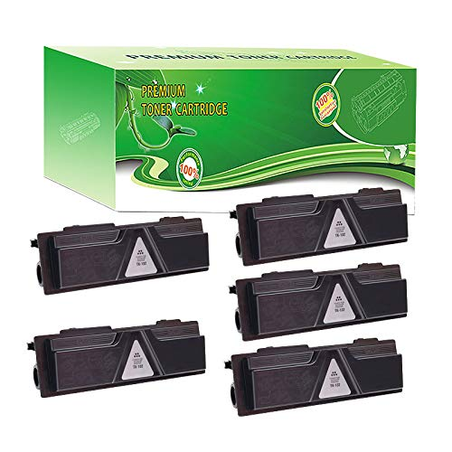 ABCink Compatible Toner Cartridge Replacements for Kyocera TK-142,for use in Kyocera FS-1100,4000 Yields(5 Pack,Black)