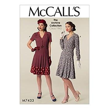 Unbekannt McCall \'s Damen Schnittmuster 7433 Vintage Style Shirt ...