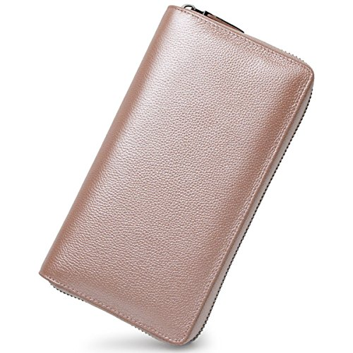 36 Credit Card Holder Wallet Leather RFID Women Card Case Organizer Purse (Rose Gold) by Bveyzi (Image #1)