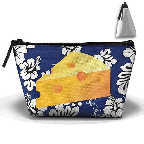 Trapezoidal Bag Makeup Bag Cheese Storage Portable Travel Wash Tote Zipper Wallet Handbag Carry Case