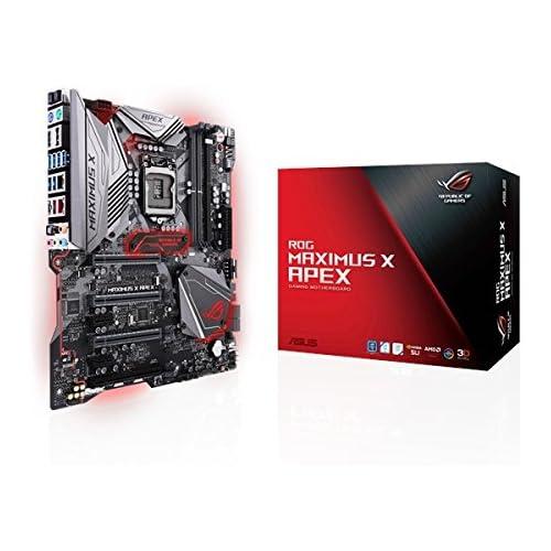 chollos oferta descuentos barato ASUS ROG Maximus X Apex Placa Base para Gaming 6 x PCIe 3 0 4 x SATA III 8 x USB 3 1 HDMI LGA1151 Intel HD Graphics DDR4 4500 MHz