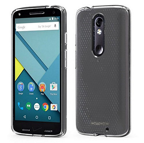 Motorola DROID Turbo 2 Case, [Invisible Armor] 0.3MM Ultra Slim, Transparent/Clear, Soft/Flexible, Shock-Absorbing, Protective TPU Case/Bumper/Back Cover