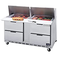 Beverage Air SPED60-24M-4 60 Refrigerated Mega Top Sandwich Prep Table