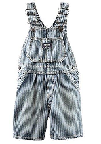 OshKosh Baby Boys Hickory Stripe Denim Shortalls - 12M