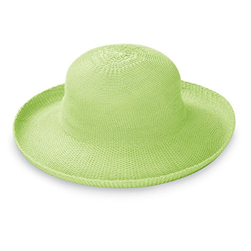 Wallaroo Hat Company Women's Victoria Sun Hat - Lime - Ultra-Lightweight, Packable, Modern Style, Designed in Australia.