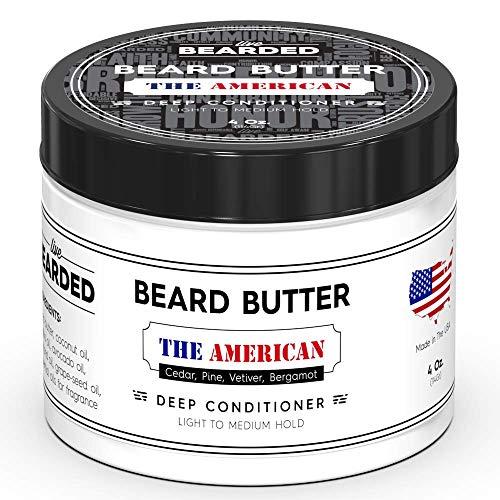Live Bearded The American Beard Butter, Deep Conditioner Beard Balm With Essential Oils Of Cedar, Pine, Vetiver, Bergamot For A Light, Smokey Scent, Light To Medium Hold (4 oz)