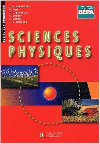 Livre gratuits Sciences physiques BEP agricole pdf