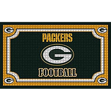 Team Sports America 41EM3811 Embossed Door Mat, Green Bay Packers