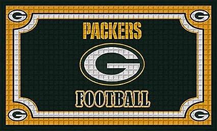 051cb640 Team Sports America 41EM3811 Embossed Door Mat, Green Bay Packers