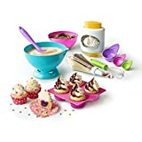 The Ultimate Baking Starter Set is an all-inclusive kit containing kid-friendly real-working kitchen tools that take the legwork and mess out of cooking with kids. Make picture perfect desserts with specialty utensils. Keep it neat with Mixin...