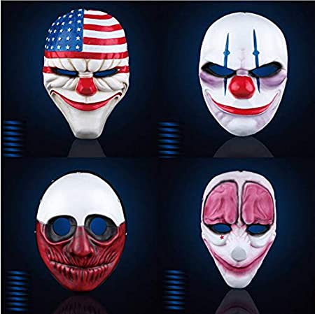 UK DALLAS PAYDAY 2 THE HEIST ADULT MASK FANCY DRESS UP HALLOWEEN COSTUME COSPLAY